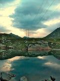 Elektrischer See Stockfotografie