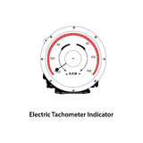 Elektrischer Tachometer Stockbild