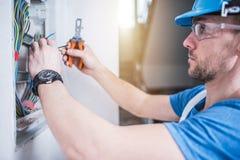Elektrischer Techniker Job stockfotografie