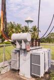 Elektrischer Transformator stockfotografie