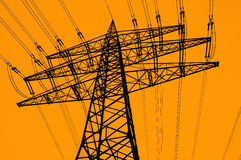 Elektrischer Turm Stockfotografie
