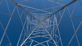 Elektrischer Turm, Pfosten, von innen stockbilder