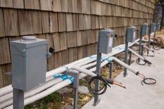 Elektrischer Unterbrecherschaltkasten draußen lizenzfreies stockbild
