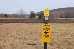 Elektrischer Zaun stockfoto