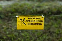 Elektrischer Zaun stockbilder