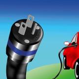 Elektrisches Auto Stockbild