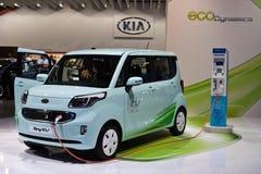 Elektrisches Auto des Kia Strahls EV stockfotografie