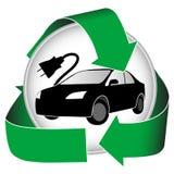 Elektrisches Auto-Ikone Stockfotos