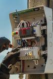 Elektrisches Basissteuerpult Stockfoto