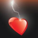Elektrisches Herz Stockfotografie