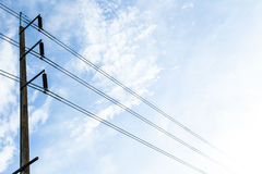 Elektrisches Himmelblau der Antenne klar Stockfotos