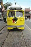 Elektrisches Laufkatze-Auto in San Francisco stockfotos