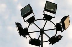 Elektrisches Licht auf schönem Himmel Stockfoto