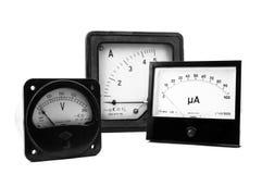 Elektrisches Messgerät Stockbild