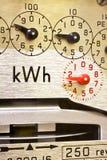 Elektrisches Messinstrument-Vorwahlknöpfe lizenzfreie stockbilder