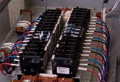 Elektrisches Panel geöffnet Stockfotos