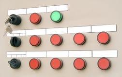 Elektrisches Panel mit Tasten Stockbild