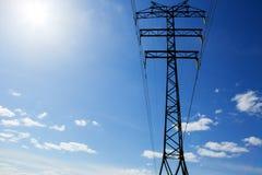 Elektrisches Pfostenkabel Lizenzfreies Stockfoto