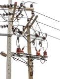 Elektrisches Pylonsystem Stockfoto