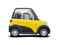Elektrisches Stadtauto Lizenzfreies Stockfoto
