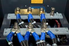Elektrisches Teil eines Generators Stockfotografie