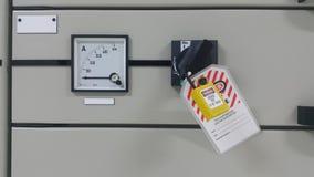 Elektrisches Teil und Zubehör im Schaltschrank stockfotografie