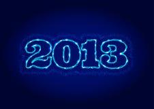 Elektrisches Zeichen 2013 Stockfotografie