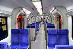 Elektrisk åtskillig enhet av Frankfurt S-Bahn Royaltyfria Bilder