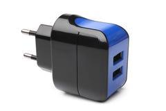Elektrisk adapter till USB portar Royaltyfria Foton