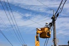 elektrisk arbetare Arkivbild