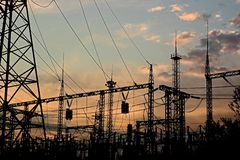 elektrisk avdelningskontor Royaltyfri Bild
