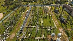 Elektrisk avdelningskontor, kraftverk flyg- sikt arkivfilmer