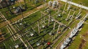 Elektrisk avdelningskontor, kraftverk flyg- sikt lager videofilmer