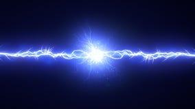 Elektrisk båge på svart bakgrund royaltyfri illustrationer