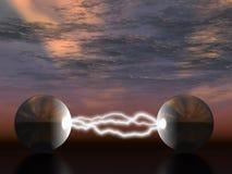 elektrisk blixt Arkivbild