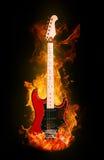 elektrisk brandgitarr Royaltyfria Bilder