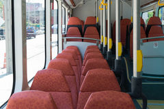 Elektrisk buss i Thailand Royaltyfria Foton