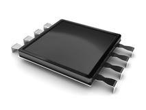 elektrisk chip stock illustrationer