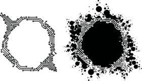 Elektrisk Cirquit för Grunge ram Arkivfoton