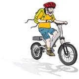 Elektrisk cykelritt Fotografering för Bildbyråer