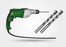 Elektrisk drillborr och drillborrbit Fotografering för Bildbyråer