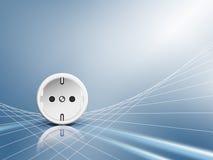 elektrisk energiuttagstickkontakt Royaltyfri Illustrationer