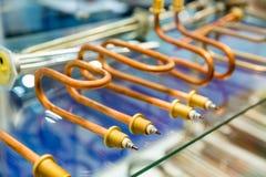 Elektrisk enhet för värmeexchanger Fotografering för Bildbyråer