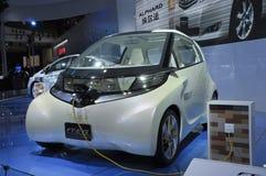 elektrisk evii ft toyota för bilbegrepp Arkivbilder