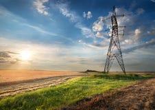 elektrisk fältpol Arkivfoto