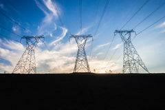 Elektrisk för elektricitetsnatt för torn tre dag Royaltyfria Bilder
