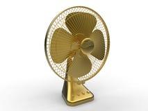 Elektrisk fan för guld- tappning Arkivfoto