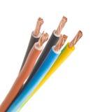 elektrisk fas tre för kabel arkivfoton