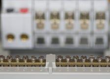 elektrisk fusebox för kontaktdon Arkivfoton