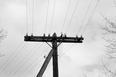 elektrisk gammal pol Royaltyfri Bild